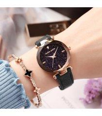 hannah martin trendy night sky gem orologi da polso in acciaio inossidabile al quarzo per donna