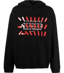 maison margiela black cotton hoodie