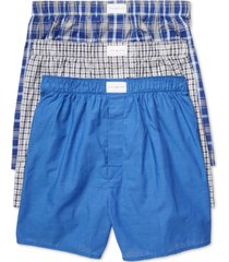 tommy hilfiger men's 3 pack woven cotton boxers