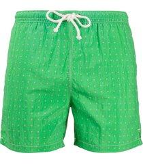 kiton short de natação com estampa de poás - verde