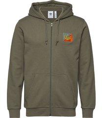 diag emb fz hoodie trui groen adidas originals