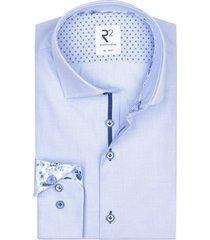 r2 amsterdam shirt lichtblauw geruit