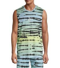 puma men's tie-dye tank - blue - size l