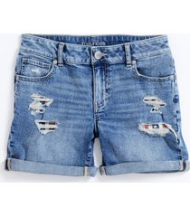 maurices womens light americana destructed 5in shorts blue