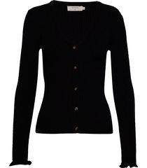 helena cardigan stickad tröja cardigan svart cream