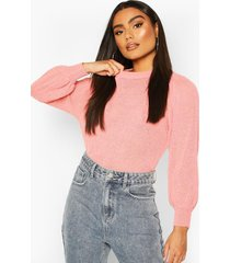 balloon sleeve sweater, pink