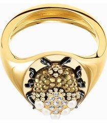 anello a sigillo magnetic, multicolore, mix di placcature