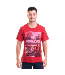 camiseta masculina manga curta estampada 30877