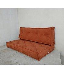 siedzisko materac francuski puf ottoman rudy