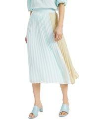 alfani colorblocked pleated skirt, created for macy's