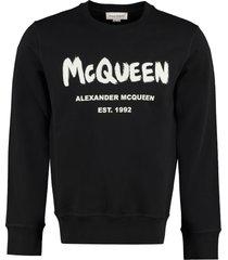 alexander mcqueen logo detail cotton sweatshirt