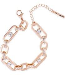 t tahari essential crystal link bracelet