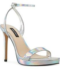 nine west women's zadie ankle strap dress sandals women's shoes