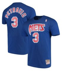 mitchell & ness men's new jersey nets hd print player t-shirt - drazen petrovic
