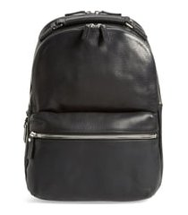 men's shinola runwell leather laptop backpack - black