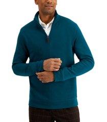 tasso elba men's quarter-zip sweatshirt, created for macy's
