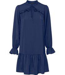 abito di satin (blu) - bodyflirt