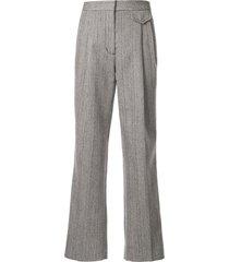 3.1 phillip lim tweed pants - blue