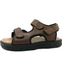 sandalia marrón febo super confort