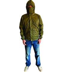 chaqueta proteccion covid 19 hombre verde militar anti fluido