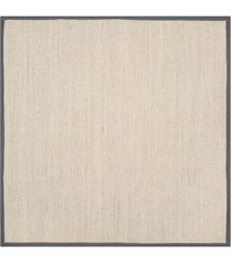 safavieh natural fiber marble and dark gray 6' x 6' sisal weave square area rug