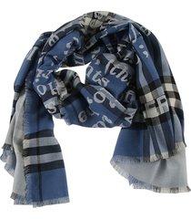 burberry love jacquard lightweight cashmere scarf