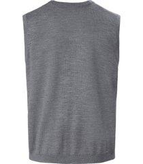 mouwloos vest van 100% scheerwol van louis sayn grijs