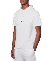 men's boss heritage short sleeve pullover hoodie