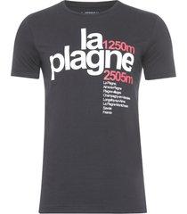 camiseta masculina la plagne - preto