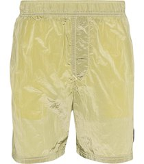 stone island shell swim shorts - yellow