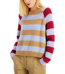 weekend max mara striped geo sweater