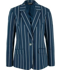 blazer in twill gessato (blu) - bpc bonprix collection