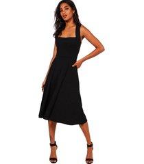 vestido racy modas festa midi godê preto