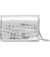 burberry embossed tb card case - metallic