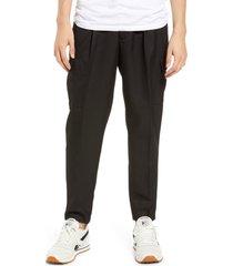 men's topman smart tapered fit cargo pants, size 36 x 32 - black