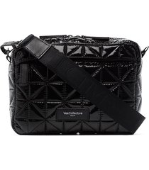 veecollective quilted crossbody bag - black