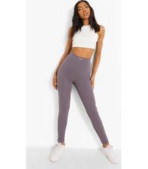 tall geribbelde premium leggings met geplooide kont, charcoal
