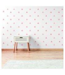 adesivo de parede quartinhos triangulos 105un tons de rosa