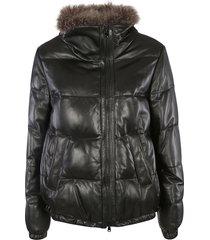 brunello cucinelli fur applique padded jacket