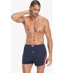tommy hilfiger men's icon stripe woven boxer dark navy - xl