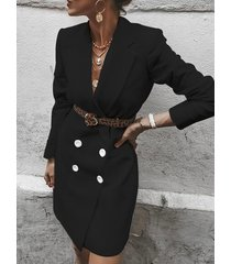 belt design notch collar blazer