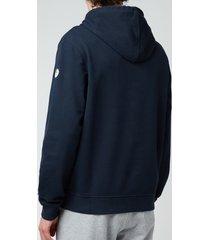belstaff men's 1924 pullover hoodie - dark ink/off white - xxl