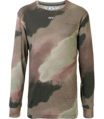 off-white camouflage-print sweatshirt - brown