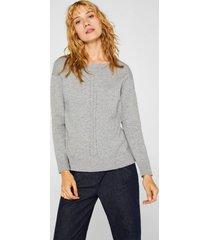 sweater en mezcla de algodón gris esprit