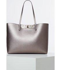 błyszcząca torba typu shopper model uptown chic