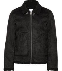 fake shearling jacket bomberjack jack zwart lindbergh