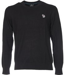 black pullover with zebra logo patch
