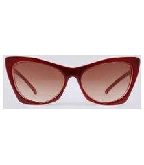óculos de sol gatinho feminino oneself vinho
