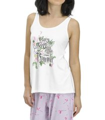 women's closer to summer pajama tank