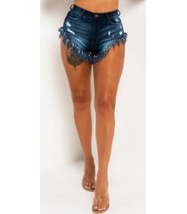 akira all i wanna do high rise denim shorts